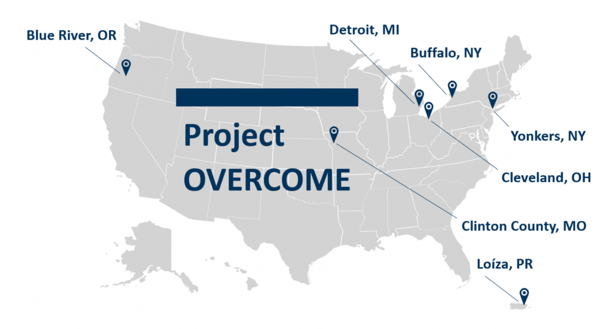 Project OVERCOME map