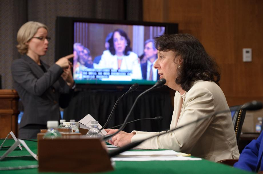 Karen Peltz Strauss testifying before Congress