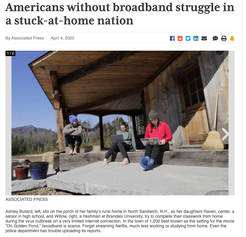 American without broadband struggle in a stuck-at-home nation
