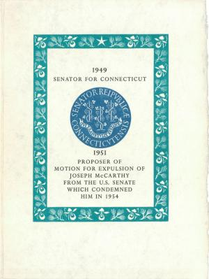 "His maiden speech in the Senate urged ""the Marshall Plan of Ideas."""