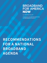 Recommendations for a National Broadband Agenda