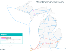 Merit Backbone Network