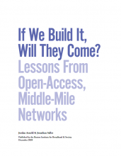 If We Build It, Will They Come? Lessons from Open-Access, Middle-Mile Networks