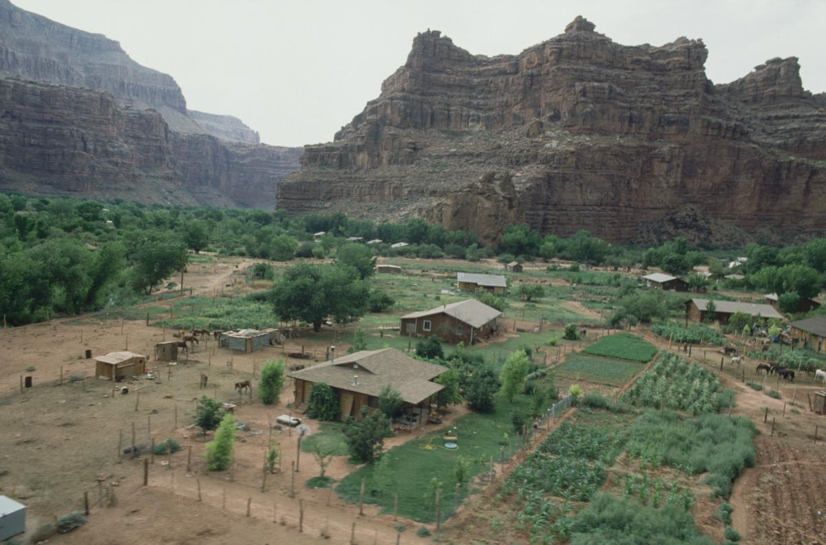 Aerial View of Supai Indian Reservation