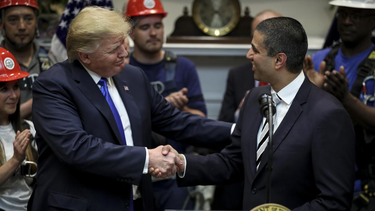 President Trump and Chairman Pai at 5G event